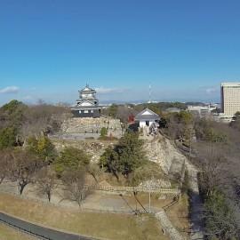 空撮 浜松城
